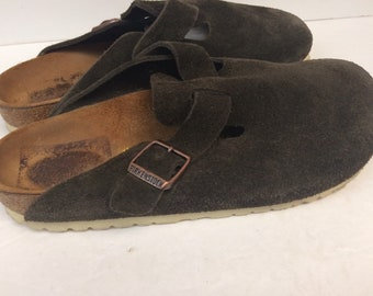 f12d1e498806a Birkenstock Leather Suede Clogs Size 8.5 Made in Germany