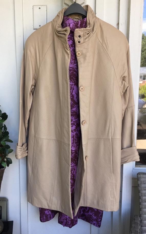 Leather Tibor Swing Coat.