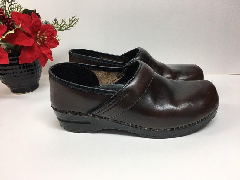 Vintage Dansko Womens Shoes Size 10 Professional Nursing Clogs Nursing Clogs Leather