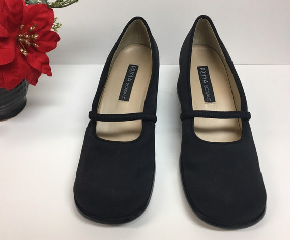 Black Mary Janes with Chunky Heel, Chunky Retro Ma