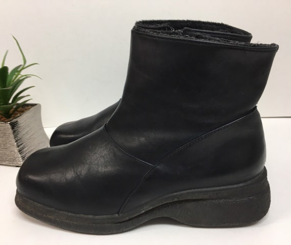 Black Chunky Boots - 90s Goth Boots Rubber Sole -
