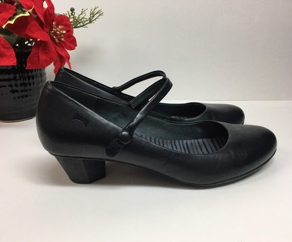 Black Camper Mary Jane Shoes Size 6