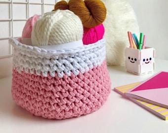 Joyful Basket · Intermediate Crochet Pattern Booklet · Instant PDF Download · Emmaknitty