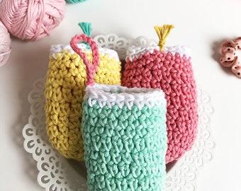 Bubblo Soap Pouches · Intermediate Level Crochet Pattern Booklet · Instant PDF Download · Emmaknitty
