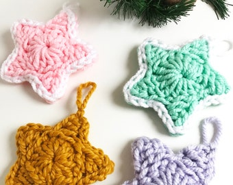 Padded Stars · Advanced Beginner Level Crochet Pattern Booklet · Instant PDF Download · Emmaknitty
