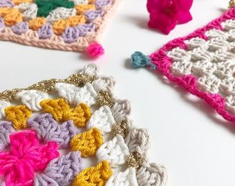 Puebla Coasters · Advanced Beginner Level Crochet Pattern Booklet · Instant PDF Download · Emmaknitty