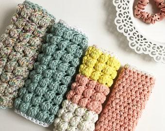 Boblina Washcloths · Intermediate Level Crochet Pattern Booklet · Instant PDF Download · Emmaknitty