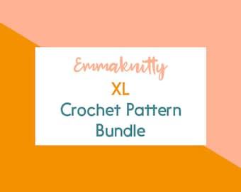XL Crochet Pattern Bundle · Crochet Pattern Set · Five Crochet Patterns · Instant PDF Download · Emmaknitty