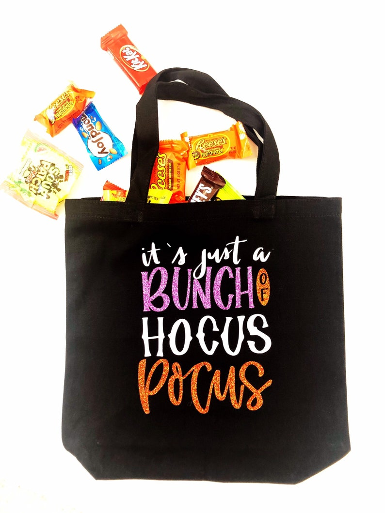 Halloween Totes Hocus Pocus Personalized Trick-or-Treat Bag Halloween Trick-or-Treat Bag FREE DOMESTIC SHIPPING Halloween Treat Bags