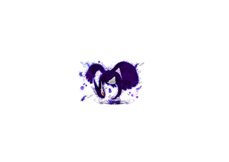 ac48504d Decorative pokemon art piece Dark Lugia | Etsy