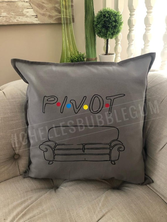 Enjoyable Pillow Cover With Zipper 20X20 Grey Black Rainbow Vinyl Pivot Friends Ill Be There For You Creativecarmelina Interior Chair Design Creativecarmelinacom