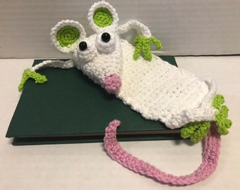 Amigurumi Mouse Bookmark Free Crochet Pattern | 270x340
