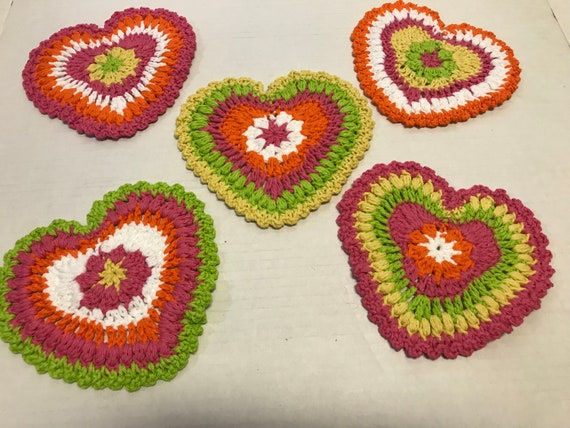 Crochet Cotton Kitchen Trivet Pot Holder Set