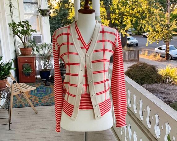 Vintage 50's/60's Joseph Magnin Sweater Vest & Car