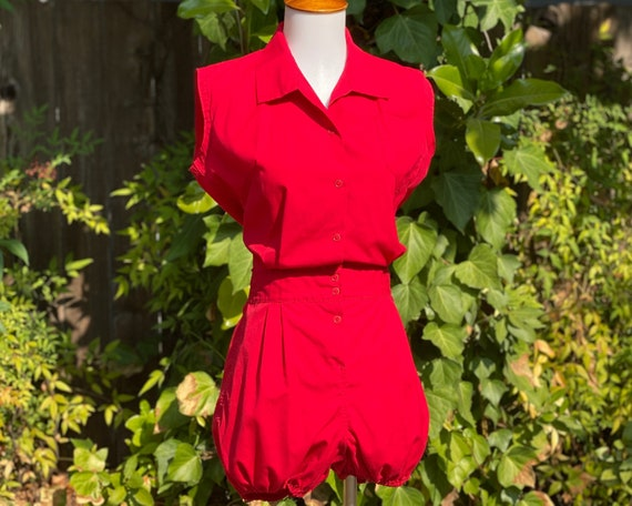 RARE 1950's/60's J. Mitchell Gym Suit Romper