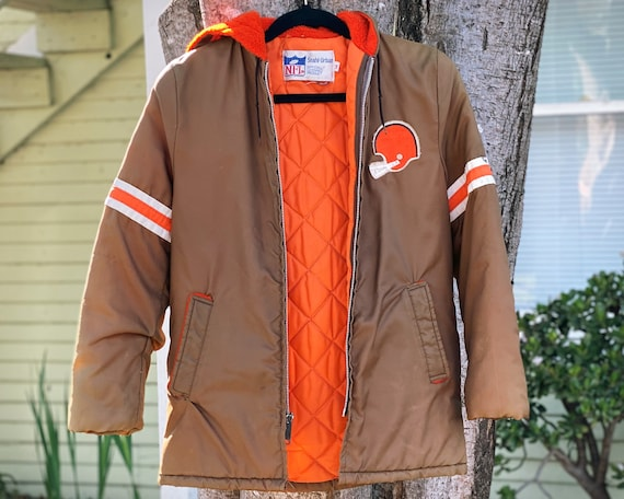 1980's Stahl Urban Cleveland Browns Hooded Parka