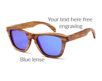 7d8353eef7976 Engraved Polarized Wood Sunglasses