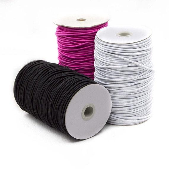 b white Elastic band stretch cord Round elastic 2mm,2 mm Round Elastic Cord
