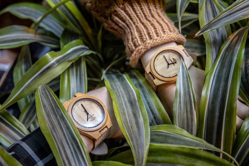 Regalos para veganos: Reloj de madera de corcho Reloj de madera Reloj de hombre