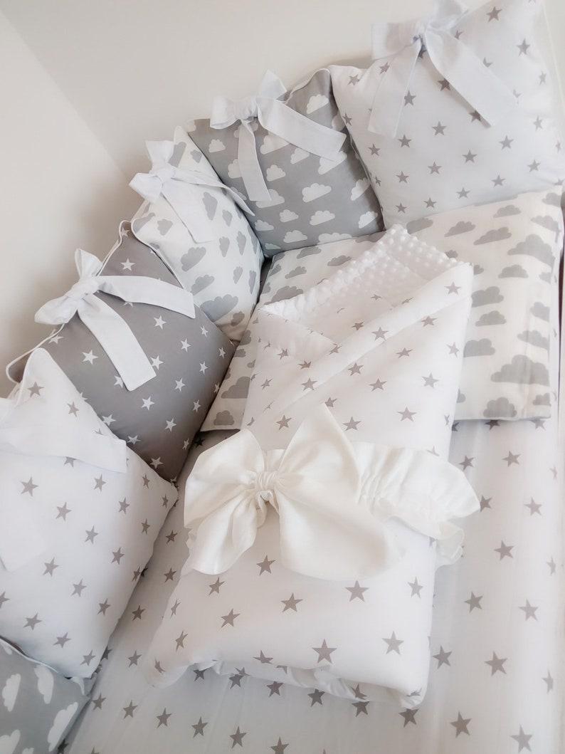 Kinderbett Stoßstange Babybettwäsche Set Baby Junge Geschenke Etsy