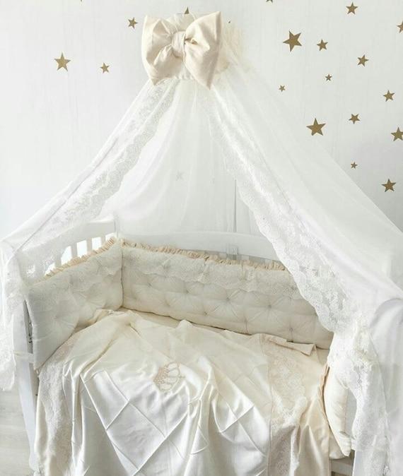 Lit tour de lit bébé literie ensemble bébé garçon cadeaux lit   Etsy