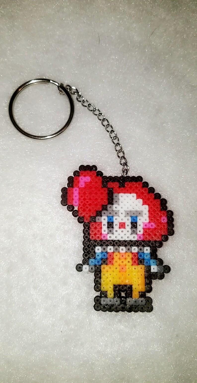 The Original It Key Chain Perler Bead Key Chains Perler Bead Keychains Perler Bead Keychain Pennywise It The Clown Circus Keys