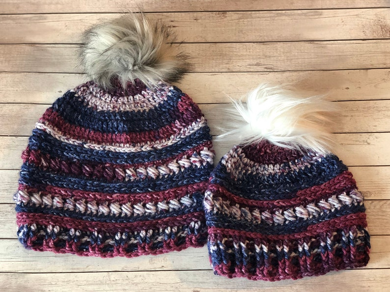 Mommy /& Me Hat Set Customizable Colors and Attatchments Winter Hats Adorable Mom and Me Set