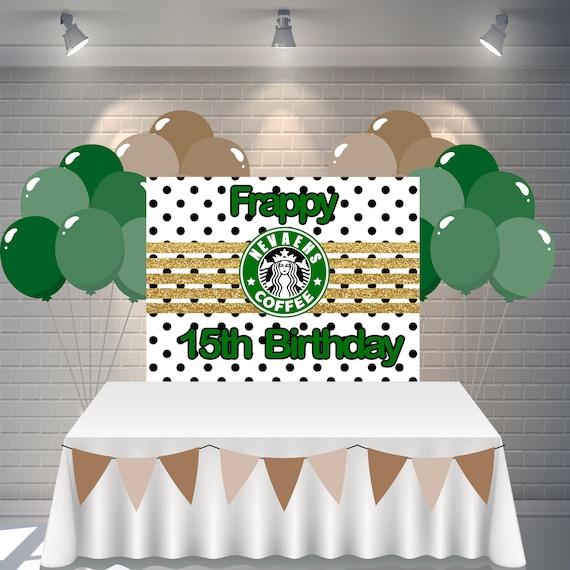 Starbucks Frappy Birthday Banner, Starbucks Banner, Starbucks Party,  Starbucks Theme