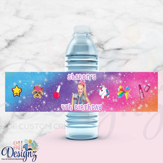 Jojo Siwa Water Labels- Jojo Siwa Birthday Favors-Jojo Siwa Printed- Digital