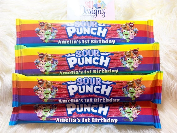 Muppet babies Birthday Party Candies Theater Boxes Muppet Babies Birthday Rainbow Candies Muppet Babies Candies