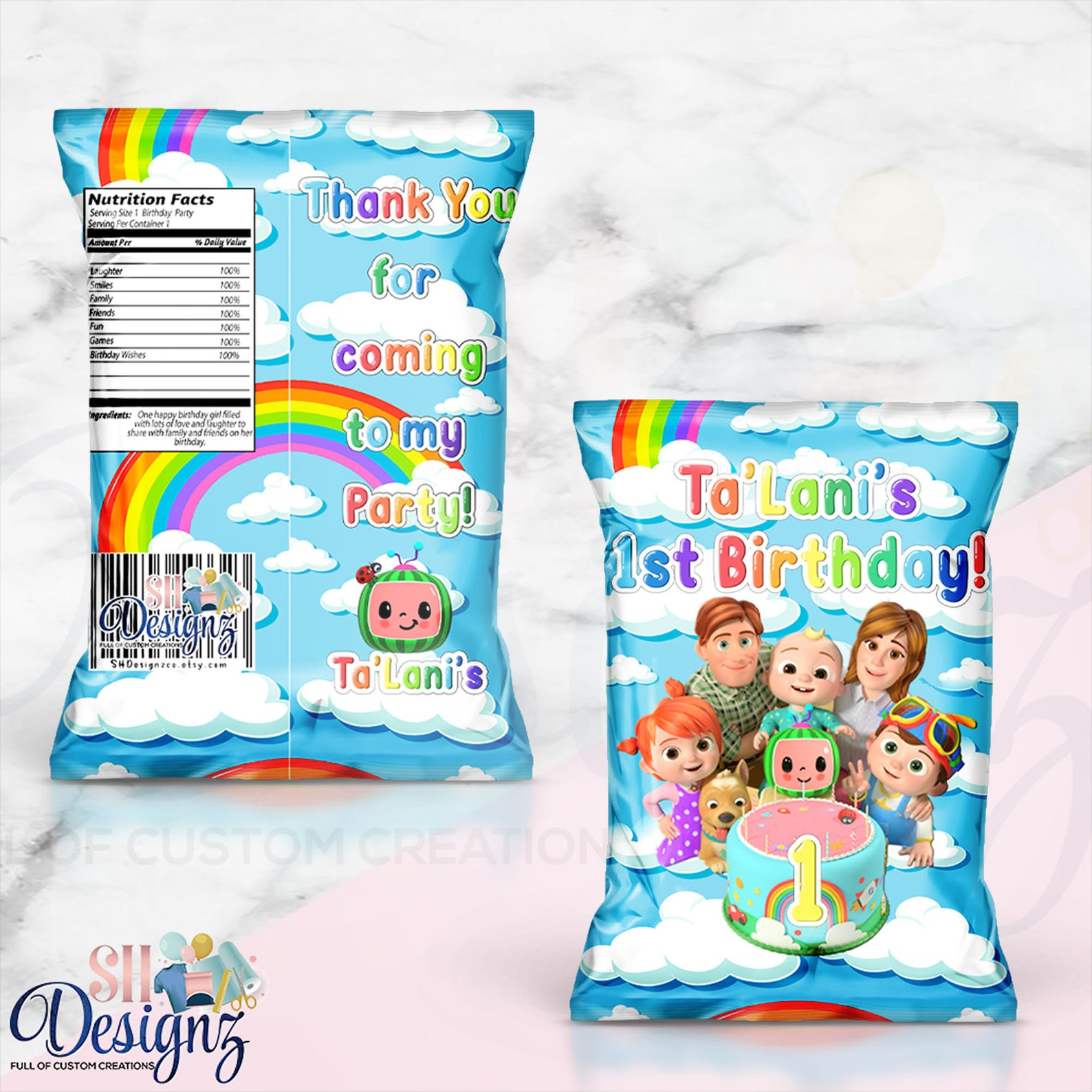 Cocomelon Chip Bags