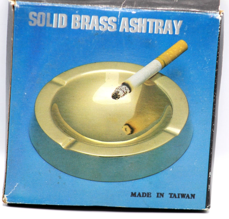 Vintage Collection Solid Brass Ashtray