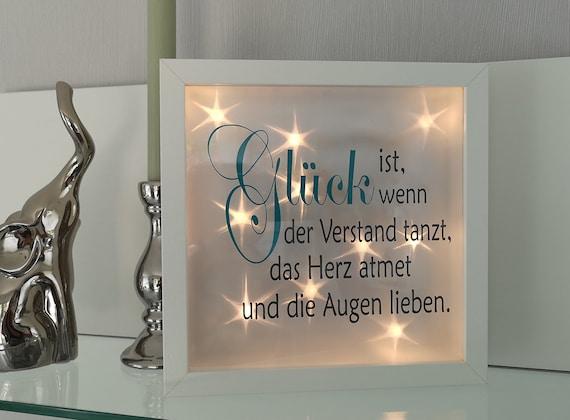 3d Bilderrahmen Beleuchtet Leuchtrahmen Mit Spruch Ribba Rahmen Glück