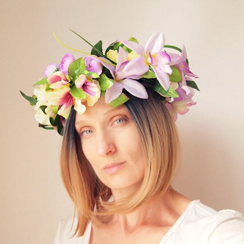 0e4611d79 FREZJE WIANEK OVERSIZE Wreath Wianek Festiwal Kwiaty Flowers | Etsy