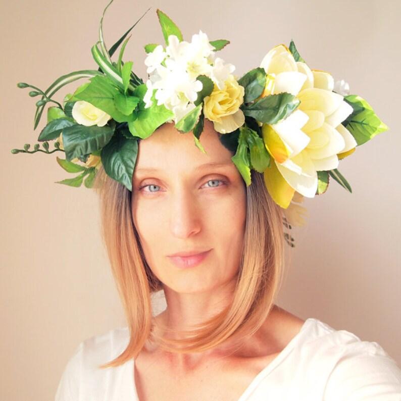 8499a7a07 LOTOS WIANEK OVERSIZE Wreath Wianek Festiwal Kwiaty Flowers | Etsy