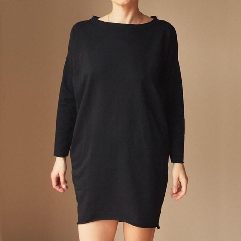 Oversize Dress Black Dress Warm Dress  Thick Dress Unique Dress  Soft Dress Original Dress Comfortable Dress Maternity Dress