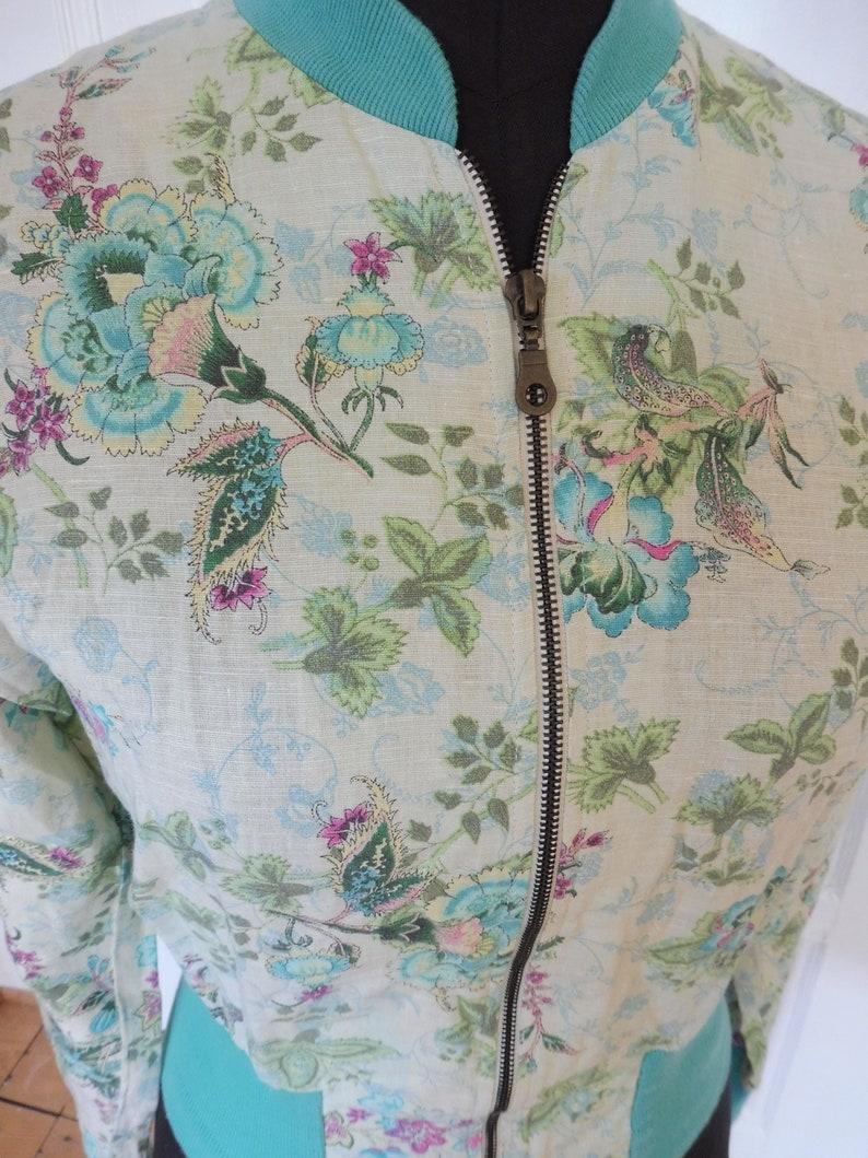 Dream vintage summer jacket LEE turquoise natural pattern Gr M 38 12 rare beautiful