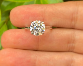 2.75 CT Round Cut Engagement Ring, Round Solitaire Ring, Wedding Ring, Sterling Silver Promise Ring, Anniversary Ring, Cz Engagement Ring