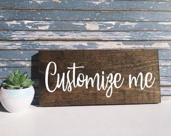 Custom Wooden Signs Etsy