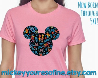 ee16c16cc Coco Mickey Mouse Head Tshirt - Infant through 5XL Available - Can Be  Personalized With a Name Upon Request