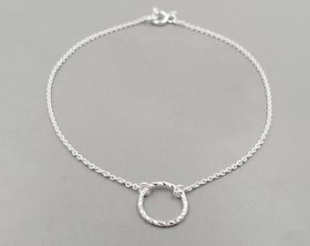 Bracelet Geometric Circle Silver