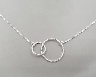 Collier Geometric Circle Duo Silver