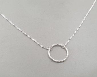 Collier Geometric Circle Silver