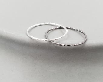 Ring Geometric Circle Silver