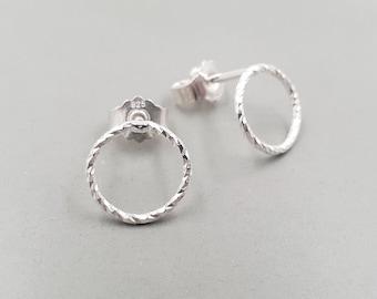 Earrings Geometric Circle Small silver