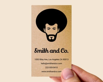 100 kraft business cards custom design choose your icon and fonts business calling card thick recycled paper vertical business cards - Recycled Paper Business Cards