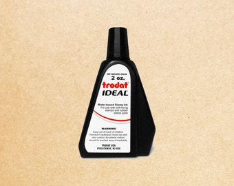 Trodat Ideal Replacement Ink (2oz) - For Use with Self Inking Stamps