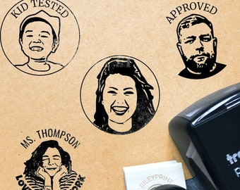 Face Stamp / Make The Stamp In Your Likeness / Custom Portrait Stamps / Best Personalized & Hilarious Gifts For Him and Her / Teacher Gifts