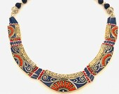 Necklace Tribal Necklace Heavey Necklace Tribal Halskette, Hippie-Halskette, Handgemacht
