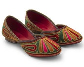 Mojri slippers sandals shoes women Footwear -Handmade Traditional Indian Rajasthani Bridal Shoes -Ethnic ballerinas